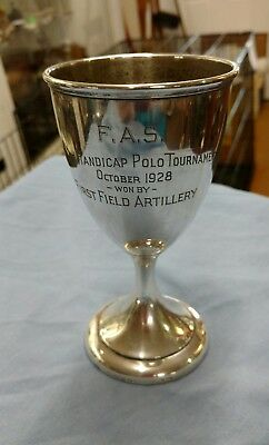 International sterling F.A.S. polo trophy,  1928 116.7 grams