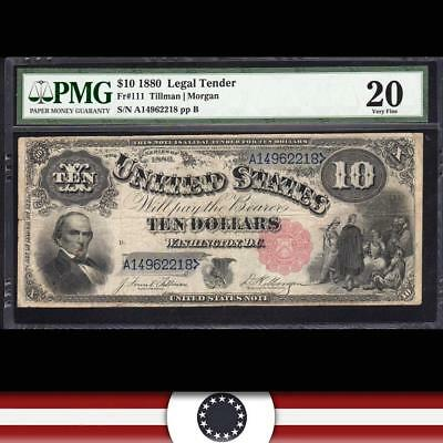 1880 $10 Legal Tender United States Note JACKSASS  PMG 20 Fr 111  A14962218