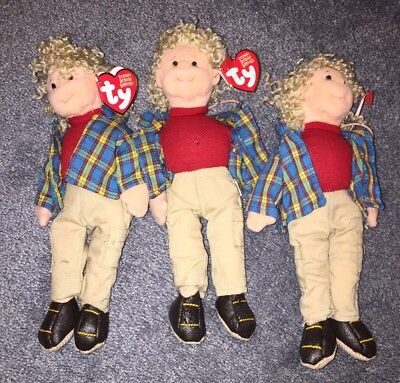 Ty TEENIE BEANIE BOPPERS Rugged Rusty NWT Plush Bendable Dolls Lot Of 3