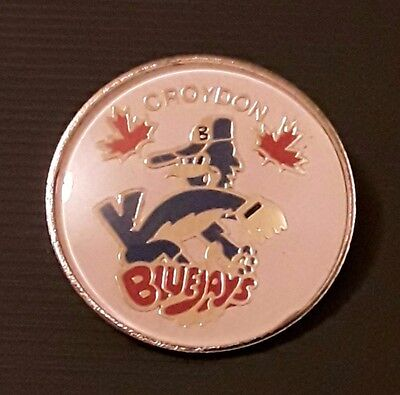 pin badge, croyden Blue jays, Baseball team.