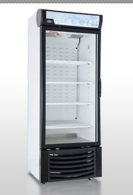 Wow!  New 1 One Door Glass Display Freezer 120 Volt For Frozen Food Led Casters