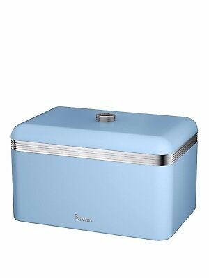 Swan Retro Bread Bin - Blue - Brand New - RRP £29.99
