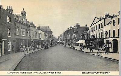 Maidenhead, Berkshire - High Street from Chapel Arches c1927 Library repro card