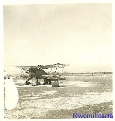 **RARE: Spanish Nationalist Air Force He-51 Fighter Plane w/ Damaged Wing!!!**