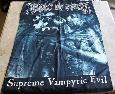 "Cradle of Filth SUPREME VAMPYRIC EVIL 30"" x 40"" Fabric Tapestry Poster Goth"