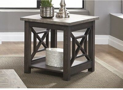 Charcoal And Ash End Table Coffee Console End Table