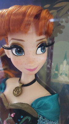 "Disney Store 17"" Limited Edition Frozen Coronation Anna Doll LE 2500 Damged Box"