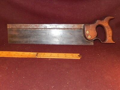"""John Spear back saw, 1814?, 14"""", collectible-user"""