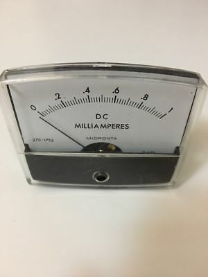 Micronta DC Milliamp Panel Meter 1mA Full Scale