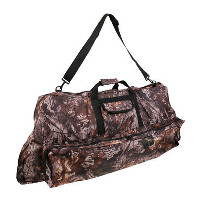 Camouflage Archery Recurve Compound Bow Bag Case Cover Arrow Holder Backpack
