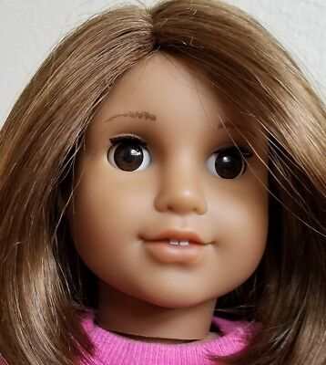 "AMERICAN GIRL 18"" doll Truly Me #28 brown hair eyes Hispanic clothes"