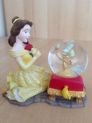 Gorgeous Collectable Disney Princess Beauty & The Beast Belle Lumiere Snowglobe