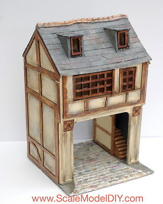 Miniature Model Kit 48th Scale Dolls House Kit - COACHING INN ARCH