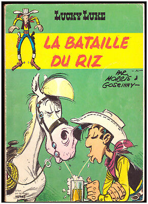 BD LUCKY LUKE LA BATAILLE DU RIZ - MORRIS  Editions PEG 1972 SOUPLE - TOTAL - BE