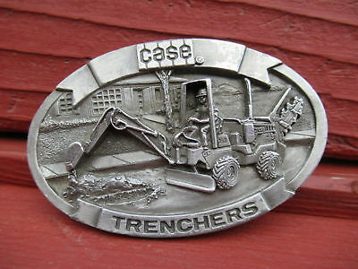 J I Case 360 Trencher 1988 Belt Buckle by Sales Guides / Excavation Construction