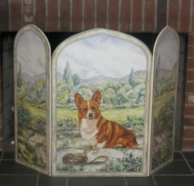 Stupell Home 3panel Outdoor decorative Dog Fireplace Screen, 31by 44by .375-i