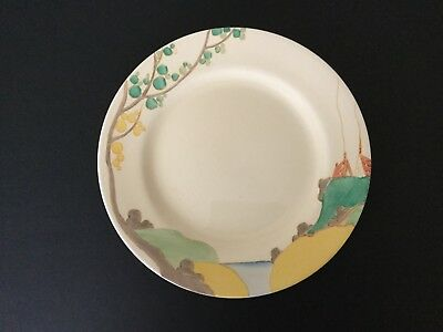 """CLARICE CLIFF """" Secrets """" large 10"""" dinner plate...excellent condition."""