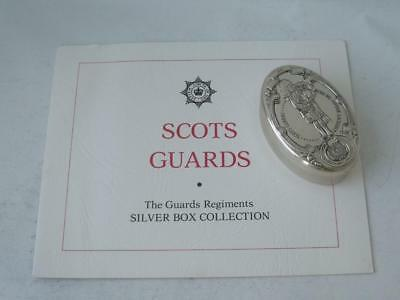 "Solid Sterling Silver ""Scots Guards"" Box 1978/ L 5.5 cm"