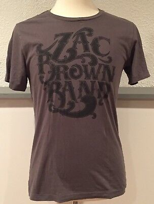 Zac Brown Band Road Tested On Tour MMXV 2015 Our Work Is Never Done T Shirt M