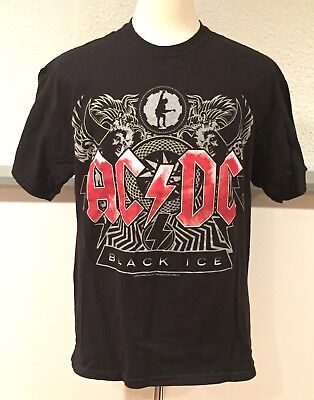 AC/DC 2008-09 Black Ice Concert Tour T-SHIRT Anthill Metal Large
