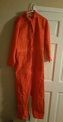 Orange Work Jumpsuit / Coveralls Very Good Condition Made in USA in Size 44