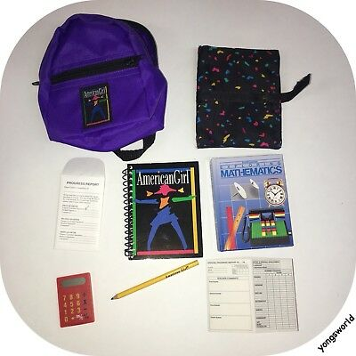 Pleasant Company American Girl 1995 School Gear Book Backpack Accessories Lot