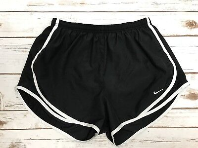 NIKE Dri-Fit Size Medium Black/White Tempo Shorts Womens Running