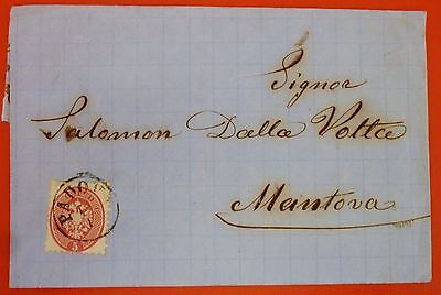 Italy Lombardei&Venetien 1866 Letter from Padova to Mantova - 5 soldi IV Issue