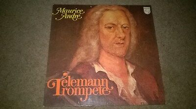 Maurice Andre playing Teleman trumpete LP by Philips