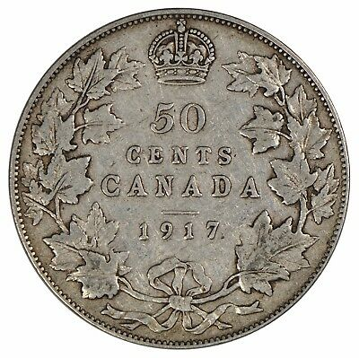 1917 Canada 50 cent Half Dollar - Collector Grade - See photos! H2-875