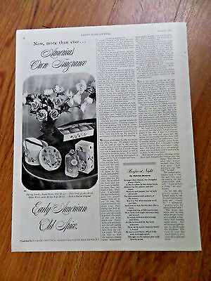 1942 Old Spice Shulton Ad Early American