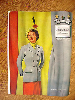 1948 Forstmann 100% Virgin Wool Fashion Ad