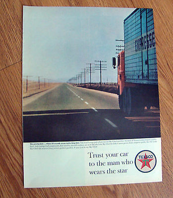 1963 Texaco Oil Ad  The man who wears the Star  The Passing Lane