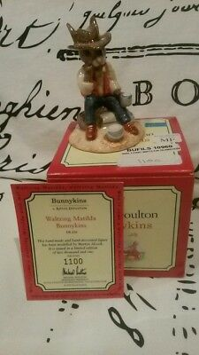 Royal Doulton Bunnykins Waltzing Matilda  Figure 2000 Limited Edition Signed