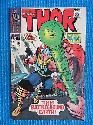 The Mighty Thor # 144 - (Vf-) - This Battleground Earth