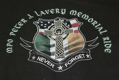 MPO Memorial shirt Peter Lavery large black sweatshirt shield 2523