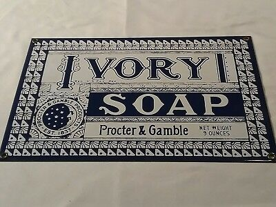 vintage Ivory Soap sign heavy