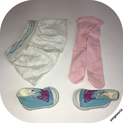 Pleasant Company American Girl Mia Meet Outfit Tights Skirt Shoes Lot