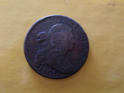 1801 P Draped Bust Large Cent,  S-214