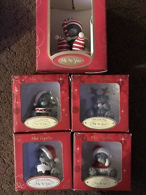 Five New Boxed Me To You Tatty Teddy Christmas Figurines