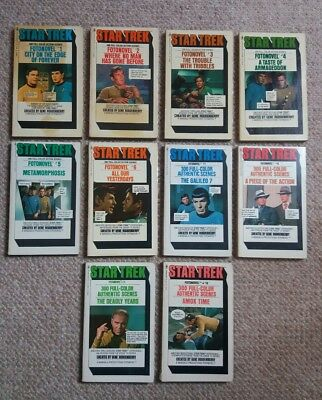 Star Trek - The Original Series fotonovels 1-8,11-12 very good vintage cond 1977