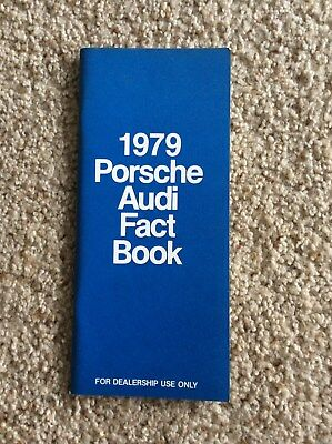 1979 porsche, audi orignal salesmans facts booklet