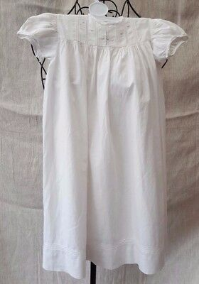 1930s Restcot Trademark London Long White Cotton Baby Christening Gown 3 Years