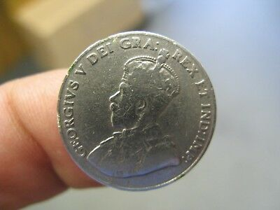 1925 Five 5 Cent Canada Key date coin