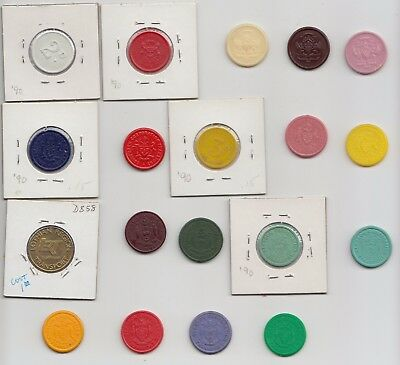 Lot of 19 Scotland bus and transit tokens