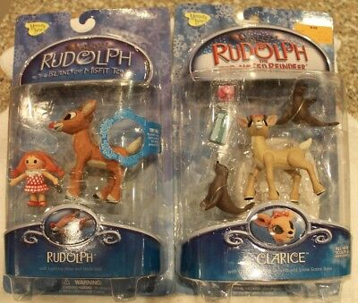 Rudolph Reindeer Memory Lane Rudolph and Clarice Action Figure 2-Pack NIB!