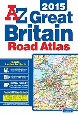 Great Britain Road Atlas 2015 by Geographers A-Z Map Co Ltd Book The Cheap Fast