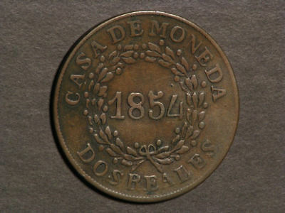 ARGENTINA-BUENOS AIRES 1854 2 Reales VF