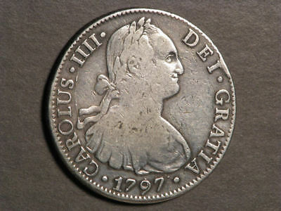 MEXICO 1797MoFM 8 Reales Silver Crown Fine