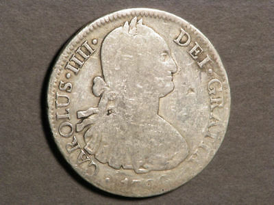 MEXICO 1798MoFM 8 Reales Silver Crown - Chopmarks
